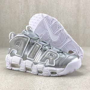 Nike Air More Uptempo Gray Metallic Silver Shoes